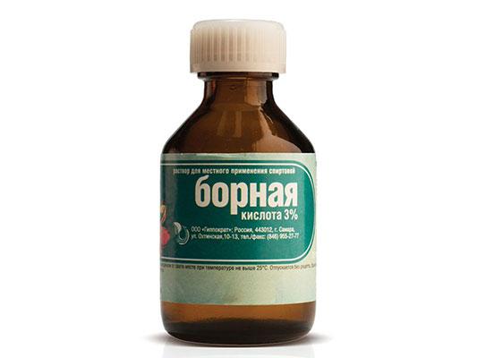 Борная кислота 3% против тараканов